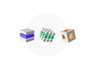 Blocks & Stacks block five blockfive figma photoshop vector graphic designer design illustrator illustration box block cube cubes stacks blocks