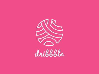 Dribbble Curve Line Art Logo simplistic simple curve design graphic illustrations pink background photoshop illustrator figma blockfive line art art line logo dribbble