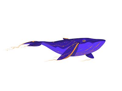 Purple Whale whale dribbbleshot art dribbble colourful purple vector illustration design blockfive block five