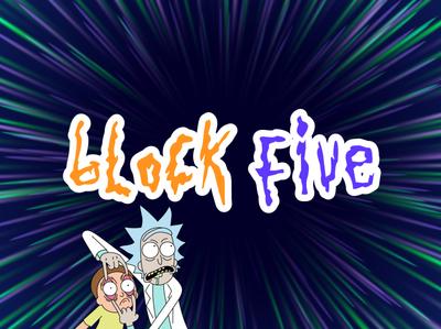 Rick & Morty Block Five Warp Speed