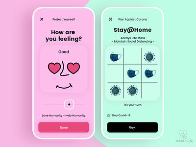 War Against Corona ✌ branding icon ui design game art idea playgame staysafe stayhome concept coronagame creativity game coronavirus