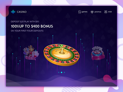 Casino Game Web page