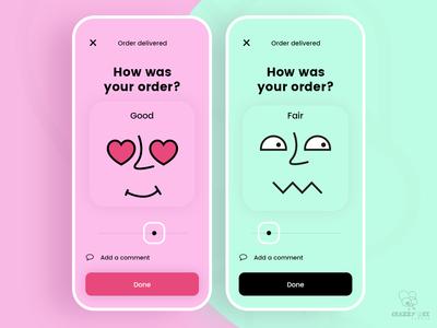 Order review screens design