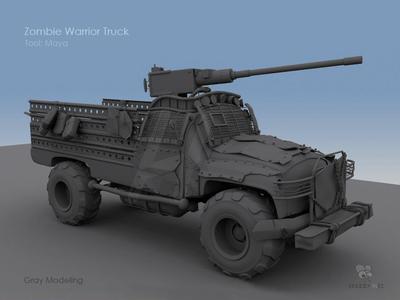 3D Zombie Truck Model
