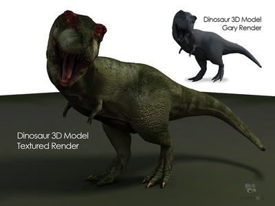 3D Dinosaur Character Model