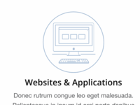 Websites & Applications Icon Treatment