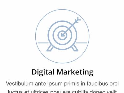 Marketing Icon Treatment marketing websites ux minimal svg icon