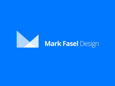 Official Brand Mark logo blue identity branding minimal
