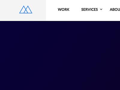 Personal rebrand and website UI navigation navigation blue clean minimal web ui branding portfolio
