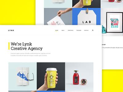 Lynk - Creative Portfolio WordPress Theme minimal white interface portfolio web design ux ui theme wordpress template creative concept