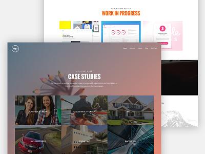 WIP - Redesign of Mark Fasel Design - Case Studies background photoshop colorful clean interface ux ui redesign wordpress portfolio