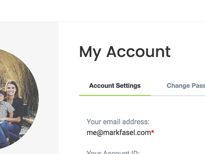 Account Settings Screen sarasota orange green grey white clean minimal account settings forms ux ui