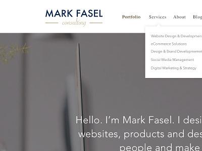New Portfolio in the Works logo gold tan brown portfolio wordpress modern clean simple minimal white