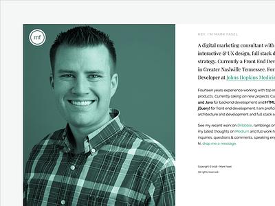 New site Design reactjs simple portfolio minimal white turquoise clean
