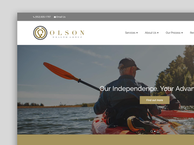 Olson Home ux front end user experience wordpress