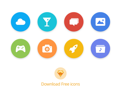 Free Sketch Icons flat icons sketch resource free icons icons