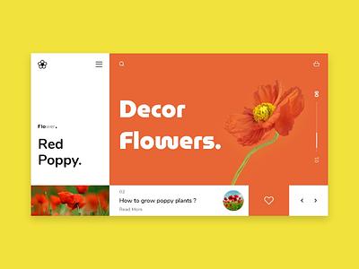 Flowers landing page design landingpage flowers website uiux