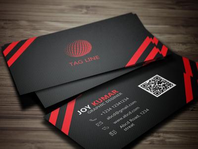 Black Business card.