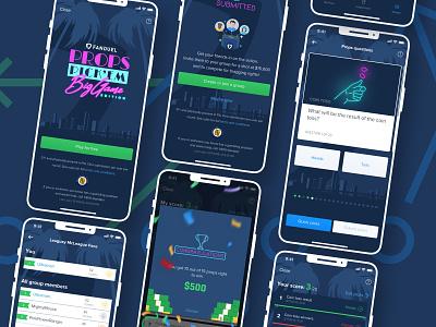 FanDuel Superbowl Free to Play Pick 'Em Game leaderboard neon sign neon colors neon sportsbook sketch dfs fantasy sports fanduel ux ui mobile ui mobile design designs design superbowl miami