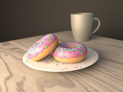 Donuts doughnuts donuts 3d blender3d blender