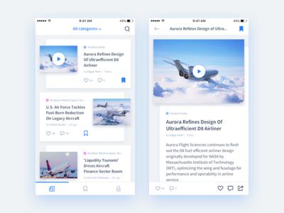 News App Concept grid article mobile concept minimal cards news design ux ui app ios