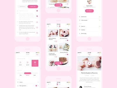🍭 Desserts App - Sketch freebie  filter cooking sketch app concept freebie design ios minimal mobile ui ux