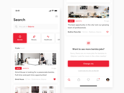 HR concept - Mobile experience📱 app hiring search mobile ios ux ui sketch minimal interface design clean