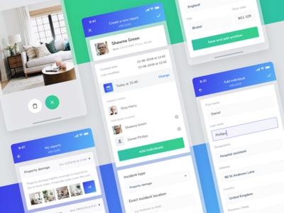 Incident reports interface ui ux sketch form report mobile minimal ios design clean app
