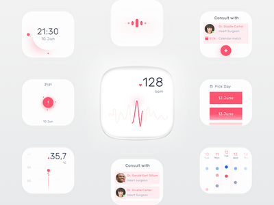 OSIS Healthcare - Patient wearable healthcare minimal clean wearable interface ui ux design osis