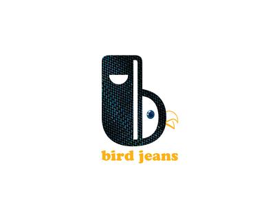 logo bird jeans