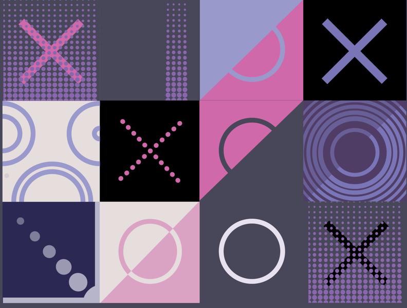 X O PATTERN pattern a day pattern design pattern art grey black purple pink pattern xo