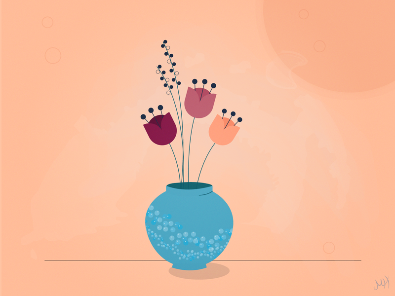 Flower Pot flowers poppy flower illustration pot flowerpot flower design adobe illustrator illustration