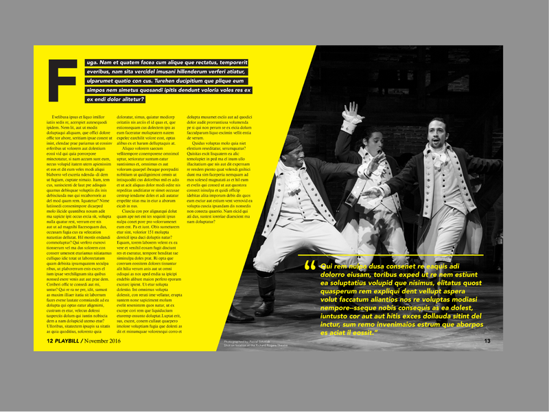Playbill Magazine Spread 2