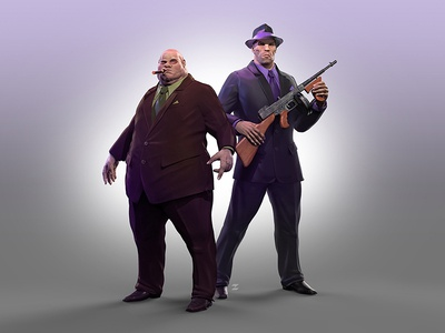 Louie and Frank italian gangsters gameart cgi 3dart characters game mafia frank louie