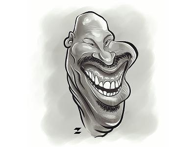 LaVar Ball sketch drawing caricature basketball nba losangeles lakers lonzo dad bigballer ball lavar