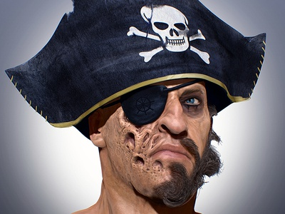 Pirate rebel illustration digitalart gameart sculpting scarface zbrush conceptart character pirate