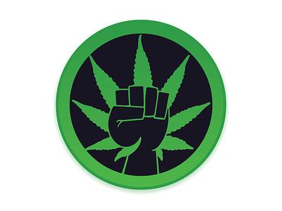 Rebel Leaf Logo vansterdam vancouver activism 4202020 420 cannabis symbol adobe illustrator vector green marketing branding design logo marijuana