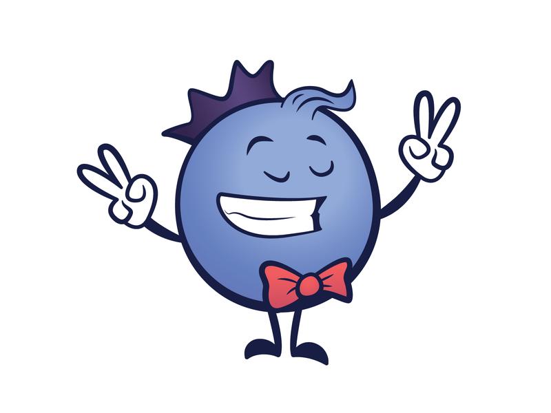 Blueberry adobe illustrator cc vector bowtie berry mascot logo blueberry cute brand mascot