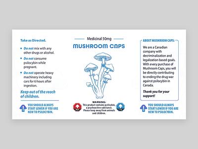 MushroomCaps Label magic mushrooms legal mushrooms canada medical illustration logo vector mushroom medical mushrooms label