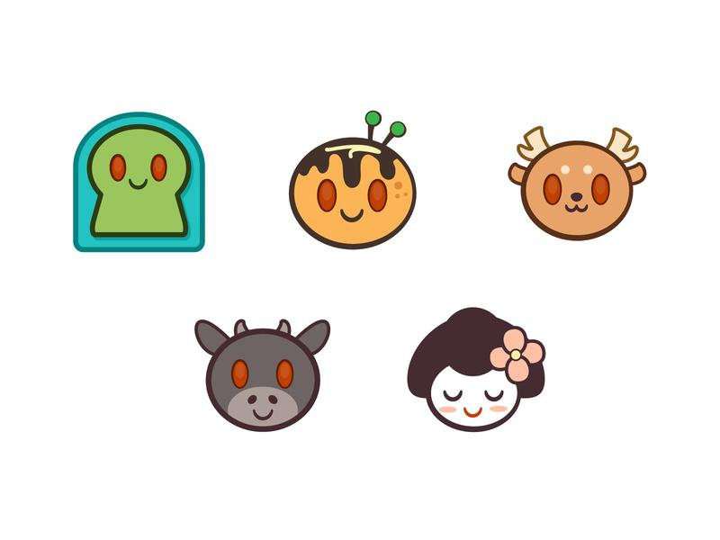 Kansai Life Reddit Emoji japanese culture vector adobe illustrator icon illustrator kawaii emoji reddit emoji reddit sakai nara kobe osaka kyoto japanese japan kansai