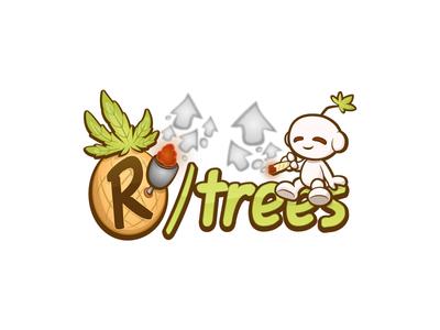 r/trees logo character design marijuana cannabis 2d vector pineapple snoo reddit rtrees