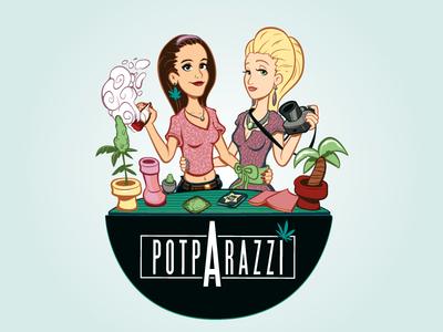 Potparazzi activism canada vancouver cannabis design 2d illustration marijuana adobe illustrator