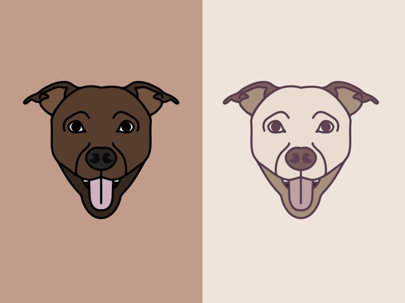 My lovely dog and best friend 🐶 pet character animal dog logo design illustration