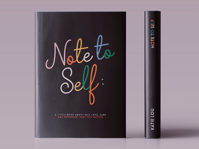 📓 Note to Self typography design guides steps quotes self care book graphic design