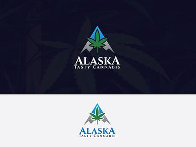 Alaska hill logo graphicdesign illustration flat dribbble abstract pot score logodesign blue logo cartoon gaja logo green logo leaf logo marijuana logo cannabis logo alaska logo