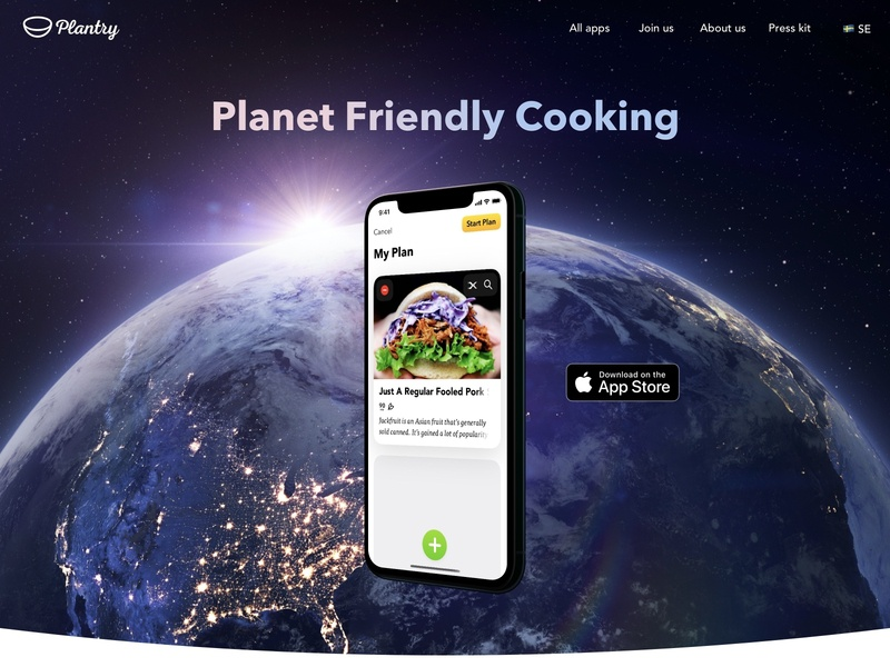 New Plantry Web branding app