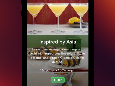 Veggie Weekend Recipe Pack in app purchase in app purchase