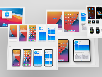 iOS 14 App Icon Template Freebie for Sketch
