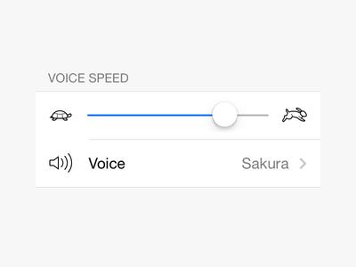 Voice Speed