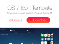 iOS 7 Icon Template